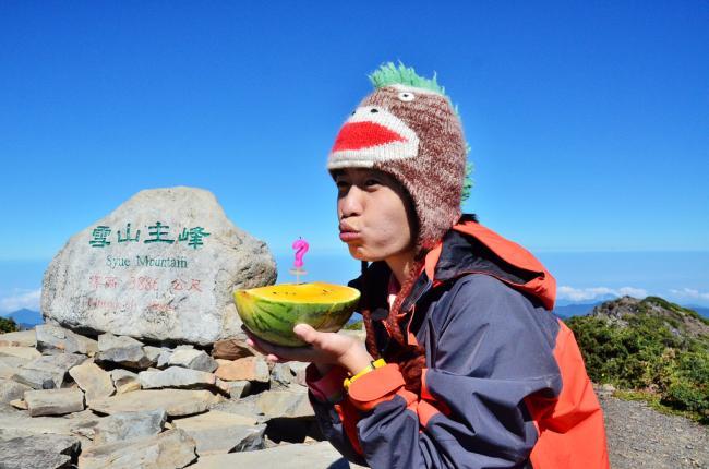 上岳�y��'m�`/_雪山,台湾第二高峰,标高3886m,饭团的第24岳,开心拿下.